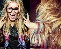 Mechas fantasía Hair Chalk...¡a golpe de tiza!