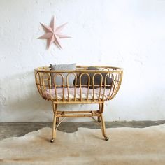 yami cane wicker rattan baby bassinet hanging chair byron bay folk the family love tree down to the woods the rattan collective daybed Rattan, Wicker, Baby Bassinet, Baby Cribs, Bassinet Ideas, Nursery Room, Kids Bedroom, Baby Room, Baby Girl Bedding