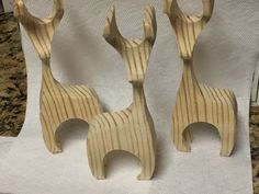 "3D reindeer from 2x4"" wood"
