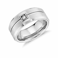Find the perfect men's wedding band at Blue Nile. See men's wedding rings in shades of gold, platinum, tungsten, and more. Classic Wedding Rings, Tungsten Wedding Bands, Tungsten Carbide, Gems Jewelry, Blue Nile, Rings For Men, White Gold, Bling, Engagement Rings