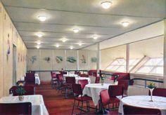 1930s: Colour photographs of the Hindenburg interior