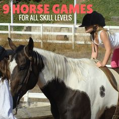 9 easy to set up and play horse games for kids and adults! These are perfect for summer horse camp Horse Riding Games, Play Horse, Horse Games, Horse Love, Horse Riding For Kids, Riding Gear, Dressage, Camping Games For Adults, Group Camping