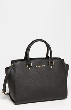 Obsessed!!!!!!!!!! MICHAEL Michael Kors 'Selma - Large' Leather Satchel available at #Nordstrom