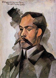Pablo Picasso - portrait of Manuel Pallares, 1909