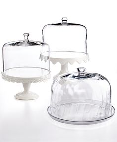 Martha Stewart Collection Serveware, Domed Cake Stands Collection - Serveware - Dining & Entertaining - Macy's Bridal and Wedding Registry