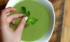 Spring Pea Soup - get this delicious vegan soup recipe for a tasty gluten-free one dish meal!