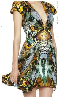 Alexander McQueen Snake  engineered digital print