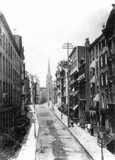 Wall Street, Nueva York, 1878.
