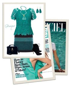 """""""Teal and Navy"""" by gemique ❤ liked on Polyvore featuring Karen Millen, Jacques Vert, Gianvito Rossi, Kim Rogers and Nest"""