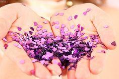 purple glitter Purple Glitter, Lilac, Pink, Color Of The Year, Pantone Color, Orchids, Confetti, Sparkle, Hands