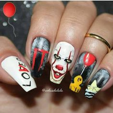 Installation of acrylic or gel nails - My Nails Holloween Nails, Cute Halloween Nails, Halloween Nail Designs, Halloween 2017, Scary Nails, Gel Nails, Nail Polish, Nails News, Stiletto Nails