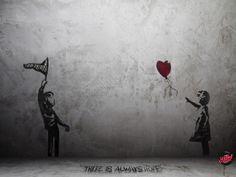 Banksy , can you receive my love? Banksy Graffiti, Street Art Banksy, Arte Banksy, Bansky, Sticker Street Art, Urbane Kunst, Stencil Art, Street Artists, Urban Art