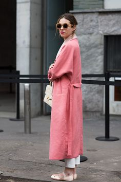 #pink #maxi #jacket #duster