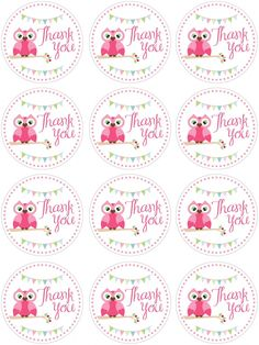 owl birthday favor tags                                                                                                                                                     More