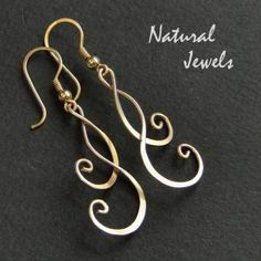 14K Goldfilled Earrings TWOFOLDNESS IN GOLD - NaturalJewels - Long Earrings