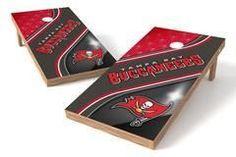 Tampa Bay Buccaneers Single Cornhole Board - Swirl