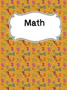 """{Freebie} Editable Covers for your Binders.....Follow for free """"too-neat-not-to-keep"""" teaching tools & other fun stuff :)"""