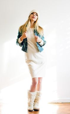 Cream  Jersey Dress by LanaStepul on Etsy, $65.00