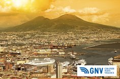 #Napoli #sunset. Discover #GNV routes from/to #Napoli here: http://www.gnv.it/en/ferries-destinations/naples-ferries-campania.html
