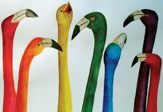"""Birds Of The Same Feather"" by Sharon S. Napshin, Sarasota, Florida, 2007 Embracing Our Differences Exhibit, via embracingourdifferences.org"