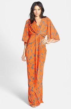 Filtre Print Kimono Maxi Dress
