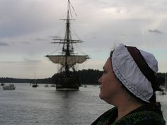 At the welcoming of The Swedish Ship Götheborg in Norrtälje Harbour, August 2013.