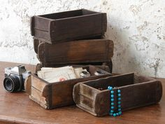 Old solid hardwood brick moulds with character and charm of their own. Old brick moulds they make perfect small storage boxes all around the home. Small Storage Boxes, Wooden Storage Boxes, Storage Trunk, Wooden Crates, Wooden Boxes, Storage Chest, Vintage Furniture For Sale, Furniture Sale, Cheap Furniture