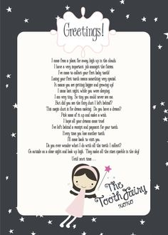 Tooth Fairy Free Printable - Making Life Whimsical