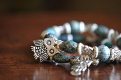 Silver Plated Owl Charm Bracelet by LaceCharming $8