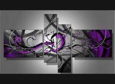 Tableau design violet explosion