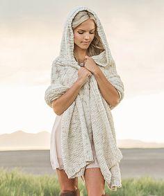 Look what I found on #zulily! Cream Jade Knit Wrap Top - Women #zulilyfinds