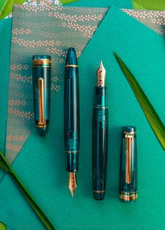 Japanese Fountain Pens, Fountain Pen Ink, Pen Collection, Best Pens, Dip Pen, Pen Art, Writing Instruments, Slytherin, Stationery