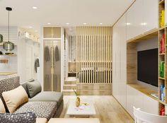 Egyszobás lakás remek háló kialakítással kellemes nyugodt egységes dekoráció és praktikum 37m2-en