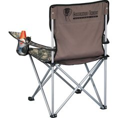 Hunt Valley (TM) Event Chair 0045-62 - For the hunter within, this chair is perfect for the great outdoors. Folds to fit into a carrying case with shoulder strap. Armrests with built-in cup holders. Made of 600 denier polycanvas and steel. #propelpromo