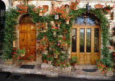 Doors, Assisi, Italy