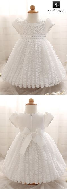 Unique Lace Jewel Neckline Ball Gown Flower Girl Dresses With Rhinestones
