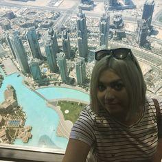 Desde lo alto del rascacielos más alto del mundo: Burj Kalifa, Dubái