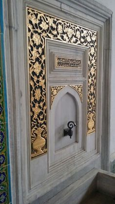 Fountain in Audience Chamber, Topkapi Palace - Today Pin Islamic Architecture, Art And Architecture, Istanbul, Sultan Palace, Ottoman Design, Ottoman Empire, Shabby Chic Decor, Islamic Art, Water Features