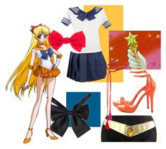 """Sailor Venus"" by opaldusk ❤ liked on Polyvore featuring Michael Antonio and Lanvin"