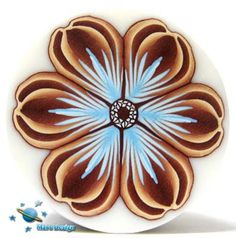 Light blue and brown flower cane | Flickr - Photo Sharing!