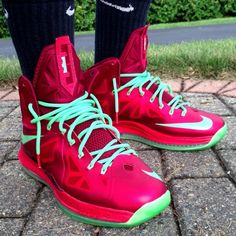 Nike LeBron X Christmas by @Andrew Gossy #nike #lebron #sneakers