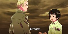 Hetalia Germany and Japan: This is one of my favorite things ever:) Hetalia: Paint It, White