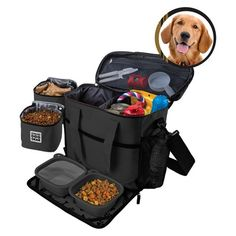 Overland Dog Gear™ Travel Bag - Week Away Bag for Medium & Large Dogs with 2 Food Carriers, Placemat & 2 Bowls : Target