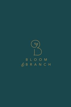 Sometimes the simple solution is the best solution. Love the simplicity of this logo design for Bloom and Branch, a wedding florist. #graphicdesign #logolove