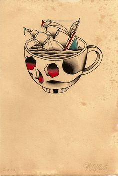 Kyler Martz @Chris Foreman . you always talked about a cup of coffee tattoo. this made me think of you!