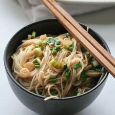 Momofuku's ginger scallion noodles - one of the easiest soba noodle I've made, and intensely flavorful.