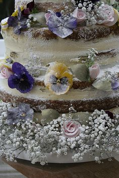 Naked Wedding cake | Naked wedding cake with fresh and sugar… | Flickr