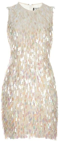 DKNY  If I could wear this, I'd wear it in a heartbeat.  I love paillettes (larger, often pear shaped sequins)