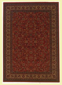 Couristan Everest Isfahan/Crimson Rug - - Oriental Rugs - Area Rugs by Style - Area Rugs Traditional Rugs, Traditional Design, Round Area Rugs, Rugs Usa, Tuscan Style, Small Rugs, Rugs Online, Home Decor, Oriental Rugs