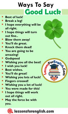 English Other Ways To Say Good Luck, English Phrases Examples Best of luck! Break a leg! English Phrases, English Sentences, English Vocabulary Words, Learn English Words, English Idioms, English Lessons, English Learning Spoken, Teaching English Grammar, English Writing Skills